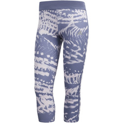 Kleidung Damen Leggings adidas Performance Response Graphic 3/4-Tight blue