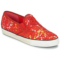 Schuhe Damen Slip on Colors of California LACE SLIP Rot