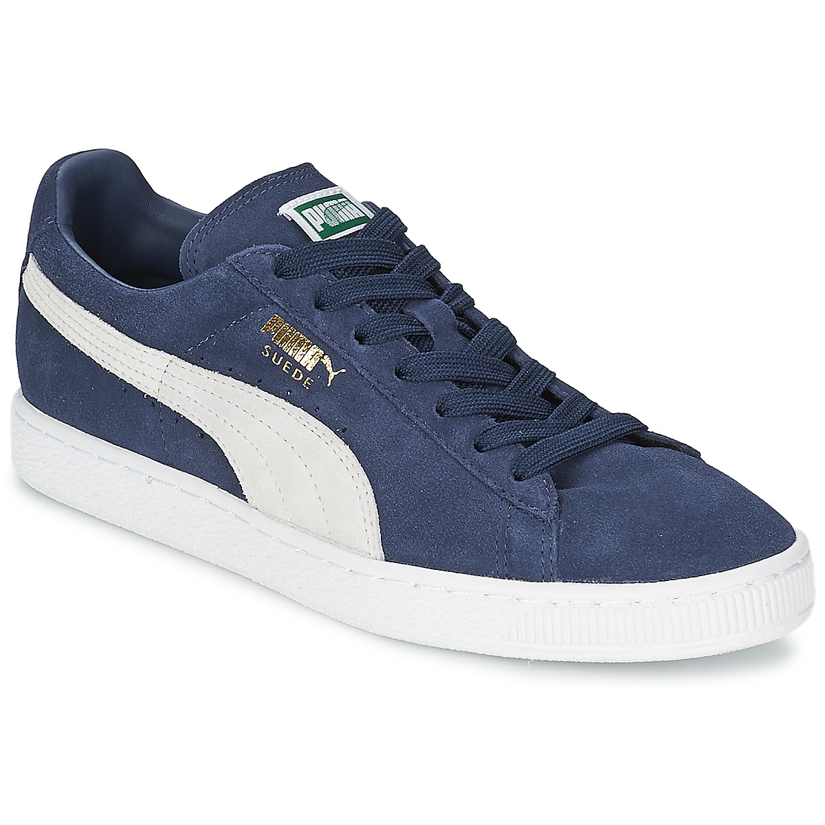 Puma SUEDE CLASSIC Blau / Weiss - Kostenloser Versand bei Spartoode ! - Schuhe Sneaker Low  67,99 €