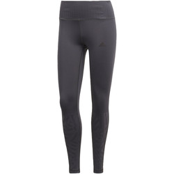 Kleidung Damen Leggings adidas Performance Ultimate High-Rise Embossed Tight Grau