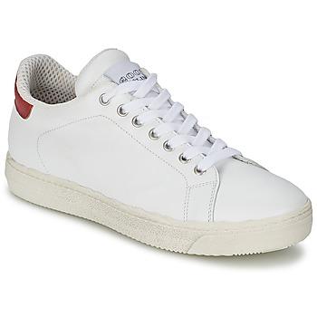 Schuhe Damen Sneaker Low Meline AIMEE Weiss / Rot