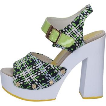 Schuhe Damen Sandalen / Sandaletten Suky Brand sandalen grün textil lack AB309 grün