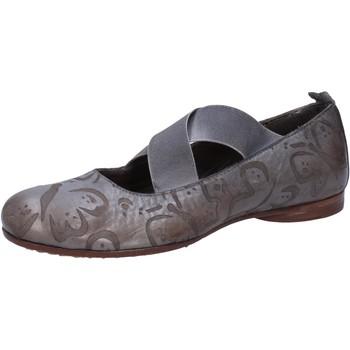 Schuhe Damen Ballerinas Moma ballerinas grau leder AB367 grau