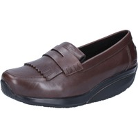Schuhe Damen Slipper Mbt mokassins braun leder performance AB392 braun