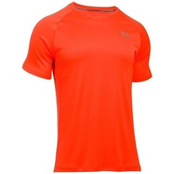 Kleidung Herren T-Shirts Under Armour Heatgear Run SS Tee Orangefarbig