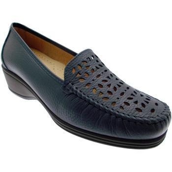 Schuhe Damen Slipper Calzaturificio Loren LOK3987bl blu