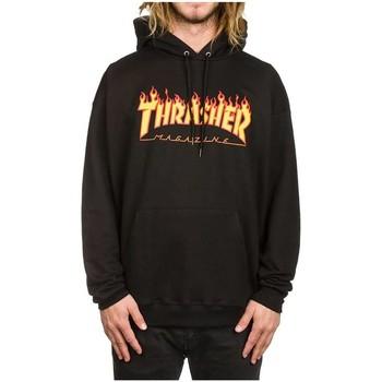 Kleidung Herren Sweatshirts Thrasher SUDADERA  FLAME LOGO Schwarz