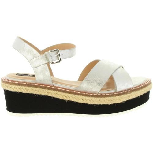 Schuhe Damen Sandalen / Sandaletten MTNG 55409 MELINDA Plateado