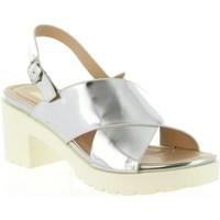 Schuhe Damen Sandalen / Sandaletten MTNG 55413 DELIA Plateado
