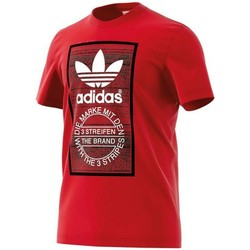 Kleidung Herren T-Shirts adidas Originals Originals Traction Tongue Herren T-Shirt Rot rouge