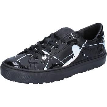 Schuhe Damen Sneaker Low Date sneakers schwarz leder lack AB561 schwarz