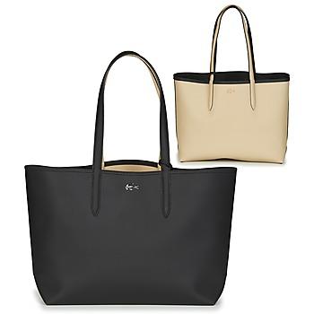 Taschen Damen Shopper / Einkaufstasche Lacoste ANNA Schwarz / Beige