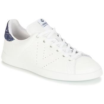 Schuhe Damen Sneaker Low Victoria DEPORTIVO BASKET PIEL Weiss / Blau