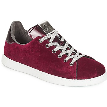 Schuhe Damen Sneaker Low Victoria DEPORTIVO TERCIOPELO Bordeaux