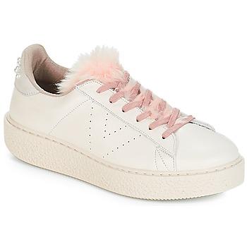 Schuhe Damen Sneaker Low Victoria DEPORTIVO PIEL PERLAS Beige