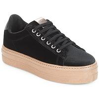 Schuhe Damen Sneaker Low Victoria DEPORTIVO TERCIOPELO/CARAM Schwarz