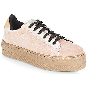 Schuhe Damen Sneaker Low Victoria DEPORTIVO TERCIOPELO/CARAM Beige