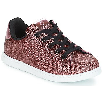 Schuhe Mädchen Sneaker Low Victoria DEPORTIVO METAL CREMALLERA Rose