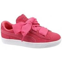 Schuhe Kinder Sneaker Low Puma Suede Heart Jr 365135-01 Czerwone