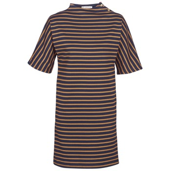 Kleidung Damen Kurze Kleider Petit Bateau TUESDAY Marine / Gelb
