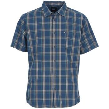 Kleidung Herren Kurzärmelige Hemden Quiksilver EVERYDAY CHECK SS Blau