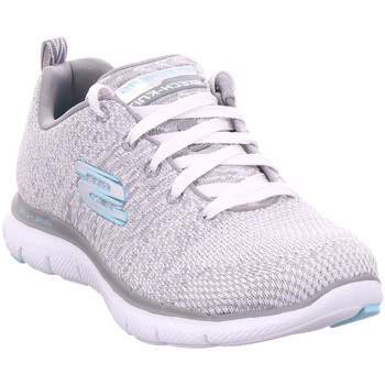 Schuhe Damen Sneaker Low Skechers FLEX APPEAL 2.0 - HIGH ENERGY, white/grey
