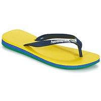 Schuhe Herren Zehensandalen Havaianas Brasil Layers Gelb