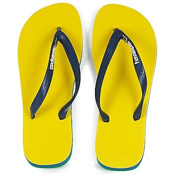 Schuhe Zehensandalen Havaianas BRASIL LAYERS Gelb
