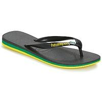 Schuhe Herren Zehensandalen Havaianas Brasil Layers Schwarz