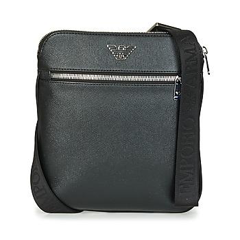 Taschen Herren Geldtasche / Handtasche Emporio Armani BUSINESS FLAT MESSENGER BAG Schwarz