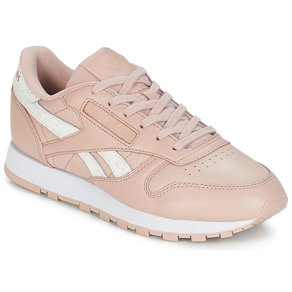 Reebok Classic CLASSIC LEATHER Rose / Weiss - Kostenloser Versand bei Spartoode ! - Schuhe Sneaker Low Damen 89,95 €