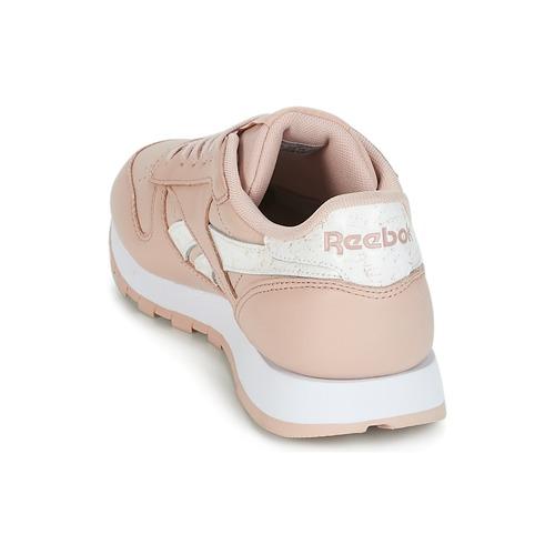Reebok Classic CLASSIC LEATHER Rose / Weiss  Schuhe Sneaker Low Damen 89,95