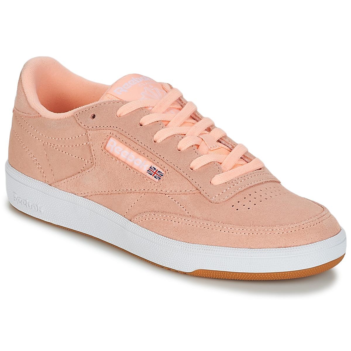 Reebok Classic CLUB C 85 Rose - Kostenloser Versand bei Spartoode ! - Schuhe Sneaker Low Damen 79,95 €