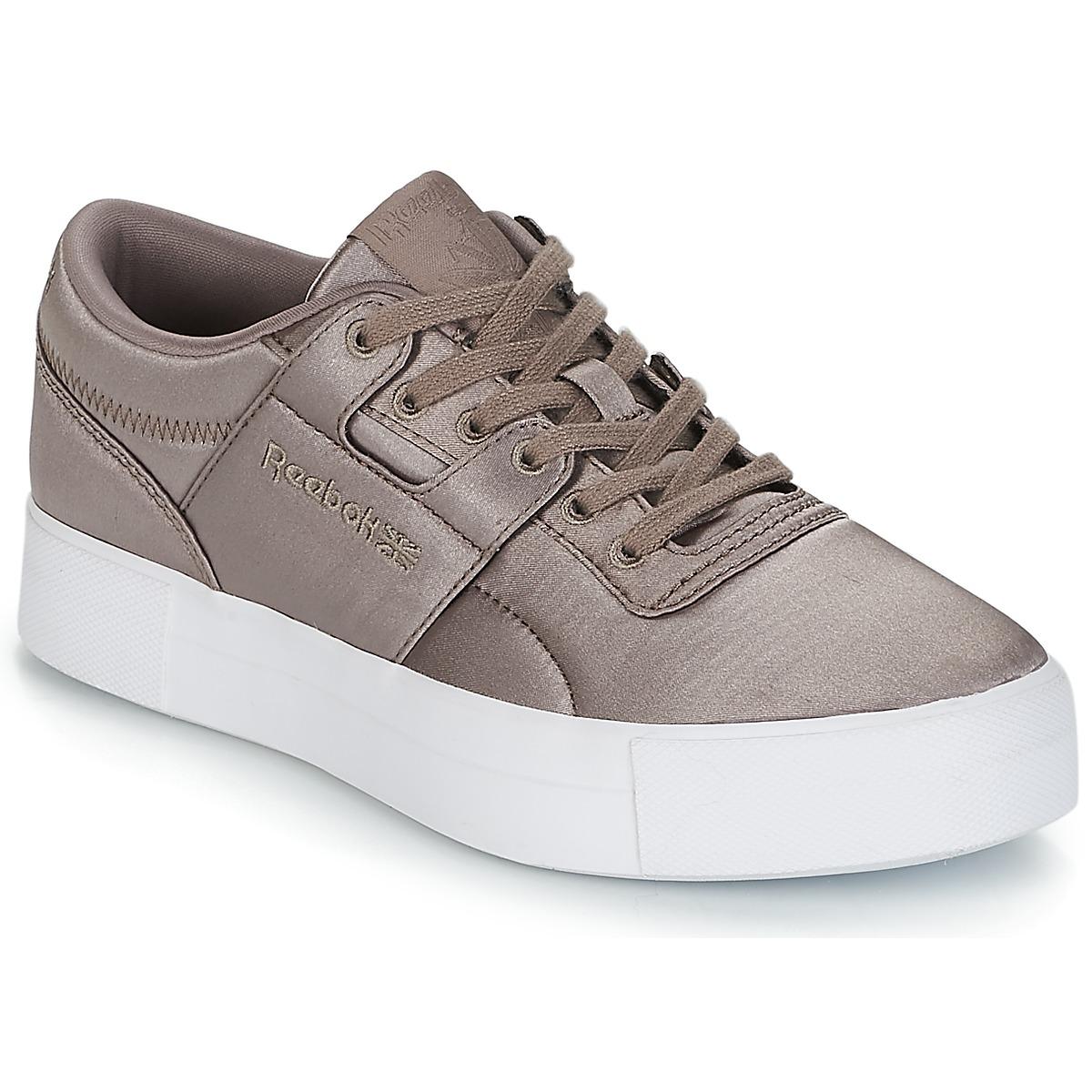 Reebok Classic WORKOUT LO FVS TXT Grau - Kostenloser Versand bei Spartoode ! - Schuhe Sneaker Low Damen 99,95 €