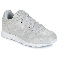 Schuhe Mädchen Sneaker Low Reebok Classic CLASSIC LEATHER C Silbern