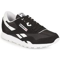 Schuhe Kinder Sneaker Low Reebok Classic CLASSIC NYLON J Schwarz / Weiss