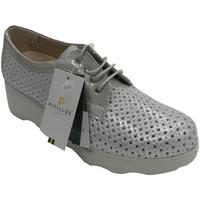 Schuhe Damen Derby-Schuhe Pitillos Offener Sportschuh für Damen mit silbern Grau