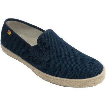 Schuhe Herren Slip on Made In Spain 1940 Schuhmann geschlossene Vorlage Esparto H Blau