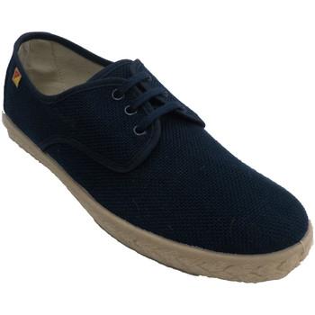 Schuhe Herren Sneaker Low Made In Spain 1940 Schuh Mann Schnürsenkel Hanf Esparto Vor Blau