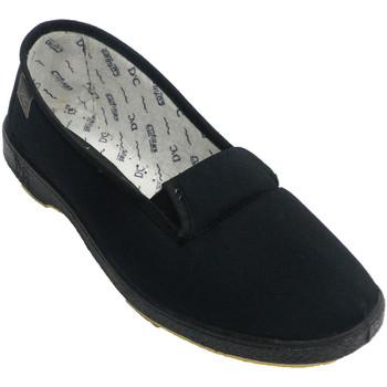 Schuhe Damen Slip on Doctor Cutillas Venetian Schuh Frau Gummibänder auf der Schwarz