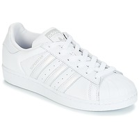 Schuhe Damen Sneaker Low adidas Originals SUPERSTAR W Weiss / Silbern