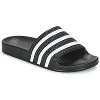 Schuhe Sneaker Low adidas Originals ADILETTE Schwarz / Weiss