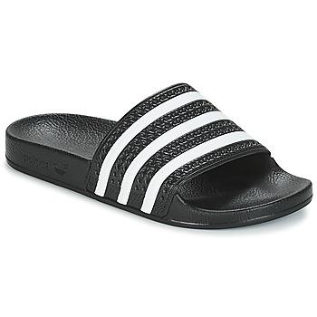 Schuhe Pantoletten adidas Originals ADILETTE Schwarz / Weiss
