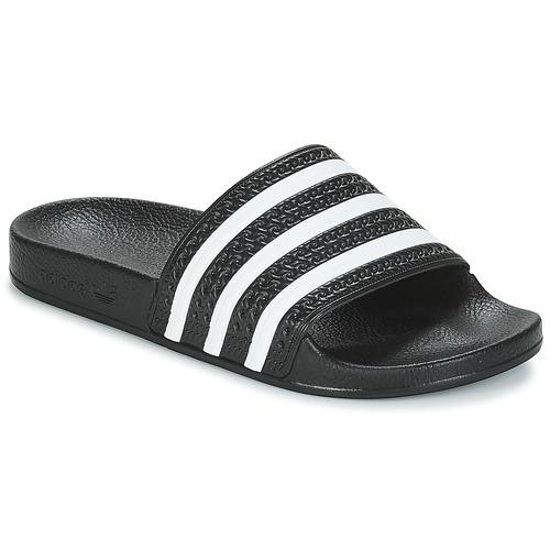 adidas Originals ADILETTE Schwarz / Weiss  Schuhe Pantoletten  34,99
