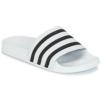 Schuhe Pantoletten adidas Originals ADILETTE Weiss / Schwarz