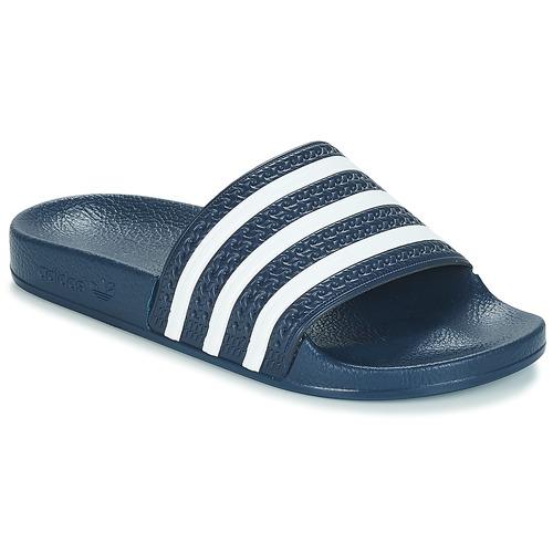 Schuhe Pantoletten adidas Originals ADILETTE Marine / Weiss