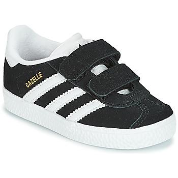 Schuhe Kinder Sneaker Low adidas Originals GAZELLE CF I Schwarz