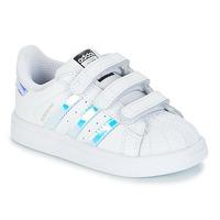 Schuhe Mädchen Sneaker Low adidas Originals SUPERSTAR CF I Weiss / Silbern