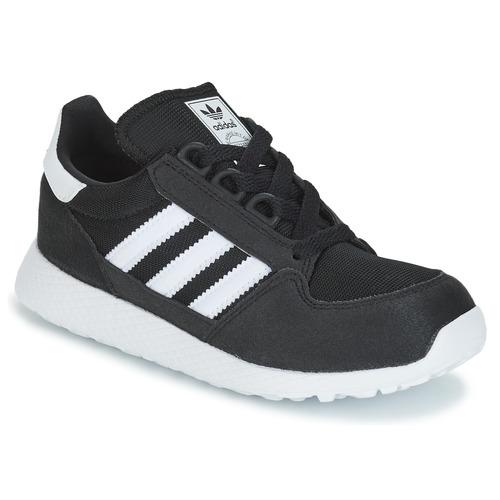 Schuhe Kinder Sneaker Low adidas Originals OREGON C Schwarz