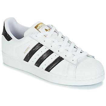 Schuhe Sneaker Low adidas Originals SUPERSTAR Weiss / Schwarz